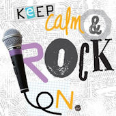 Keep Calm And Rock On Canvas Wall Art