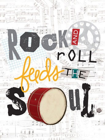 Rock And Roll Feeds The Soul Canvas Wall Art - Wall Sticker Outlet