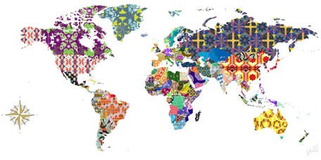 Global Patterns Canvas Wall Art - Wall Sticker Outlet