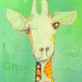 Grow Giraffe Canvas Wall Art