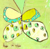 Snowfly Butterfly Canvas Wall Art