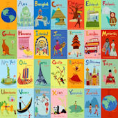 A To Z World Canvas Wall Art