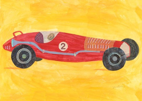 Retro Racer Number 2 Canvas Wall Art - Wall Sticker Outlet