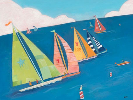 Sailing Regatta Canvas Wall Art - Wall Sticker Outlet