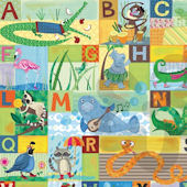 ABC Animal Action Canvas Wall Art