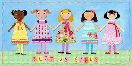 Just Us Girls Canvas Wall Art - Wall Sticker Outlet
