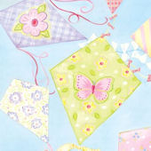 Pastel Kites Canvas Wall Art