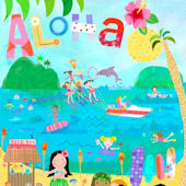 Aloha Girls Canvas Wall Art