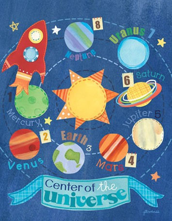Center Of The Universe Canvas Wall Art - Wall Sticker Outlet