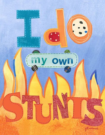 I Do My Own Stunts Canvas Wall Art - Wall Sticker Outlet