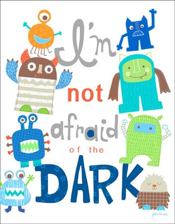 Im Not Afraid Of The Dark Canvas Wall Art - Wall Sticker Outlet