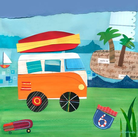 On The Road Beach Canvas Wall Art - Wall Sticker Outlet