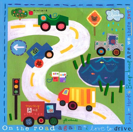 On The Road Again Canvas Wall Art - Wall Sticker Outlet