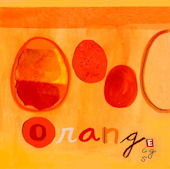 Orange Eggs Canvas Wall Art