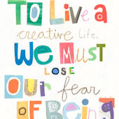 To Live A Creative Life Canvas Wall Art