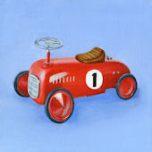 Kid Car Canvas Wall Art