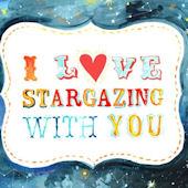 I Love Stargazing With You Canvas Wall Art