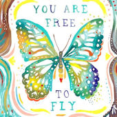 You Are Free To Fly Canvas Wall Art