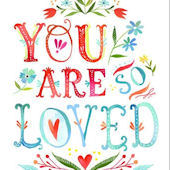 You Are So Loved Canvas Wall Art