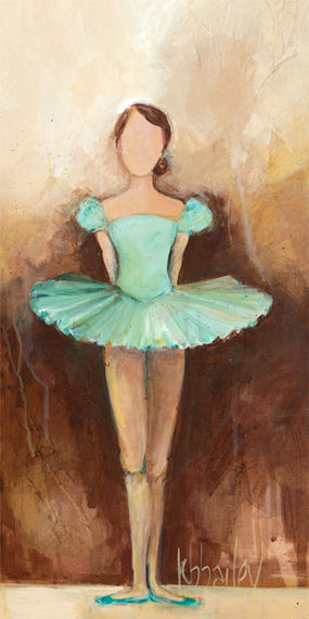 Belle Of The Ballet Green Canvas Wall Art - Wall Sticker Outlet