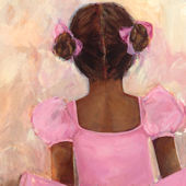 Perfect Ballerina African American Canvas Wall Art