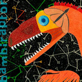 Bambiraptor Dinosaur Canvas Wall Art