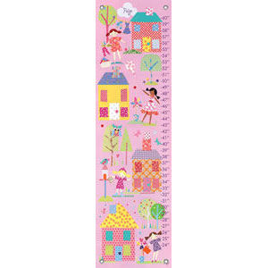 Little Houses Canvas Growth Chart - Kids Wall Decor Store