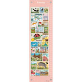 Modern Alphabet Pink Canvas Growth Chart