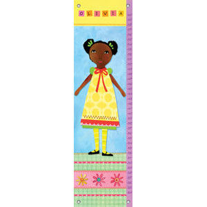 My Doll 1 Canvas Growth Chart - Kids Wall Decor Store