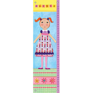 My Doll 2 Canvas Growth Chart - Kids Wall Decor Store