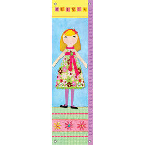 My Doll 3 Canvas Growth Chart - Kids Wall Decor Store