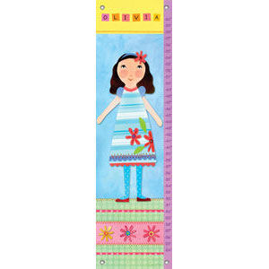 My Doll 4 Canvas Growth Chart - Kids Wall Decor Store