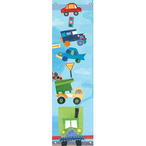 On the road canvas growth chart kids wall decor store