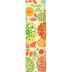 Radiant Flowers Canvas Growth Chart - Kids Wall Decor Store
