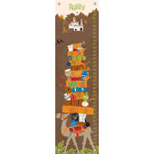 Its a Small World Morocan Boy Canvas Growth Chart