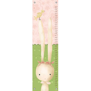 Sweet Bunny Canvas Growth Chart - Kids Wall Decor Store