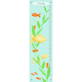 Under The Sea Boy Canvas Growth Chart