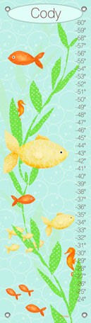 Under The Sea Boy Canvas Growth Chart - Wall Sticker Outlet