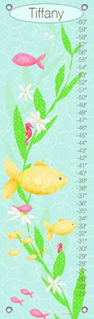 Under The Sea Girl Canvas Growth Chart - Wall Sticker Outlet