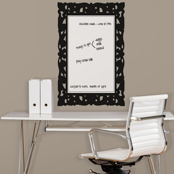 Ornate Frame Dry Erase Peel and Stick Decal - Wall Sticker Outlet