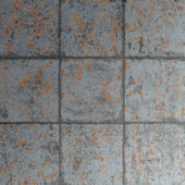 Graham and Brown Oxidised Tile Rust Wallpaper