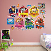 Fathead Paw Patrol Shields Collection Decal