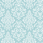 Delicate Document Damask Blue Prepasted Wallpaper