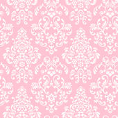 Delicate Document Damask Pink Prepasted Wallpaper