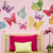 Butterfly Arbor Medium Peel and Place Mural