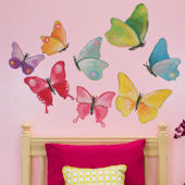 Butterfly Arbor Small Peel and Place Mural