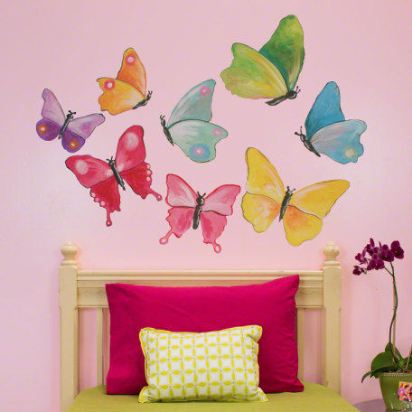 Butterfly Arbor Small Peel and Place Mural - Wall Sticker Outlet