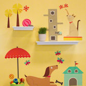 Creature Comforts Medium Peel and Place Mural