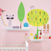Paper Animals Small Peel and Place Mural