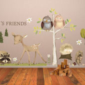 Woodland Friends Peel and Place Mural